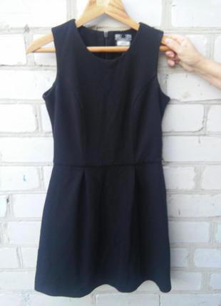 Платье next из плотной фактурной ткани чёрное