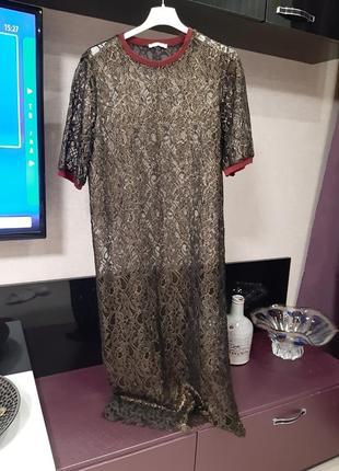 Супермодное нарядное платье zara