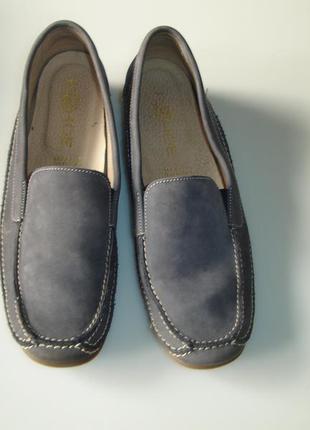 Кожаные туфли мокасины фирмы rohde женские  на 39 размер