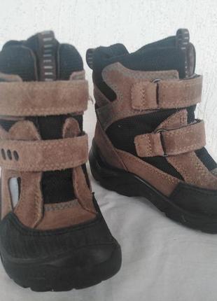Зимние ботинки, сапожки екко gore-tex р.25