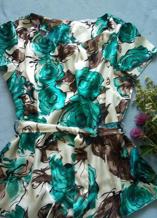 Шикарная атласная блузка debenhams