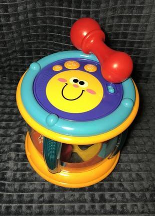 Барабан , сортер , музыкальная игрушка .