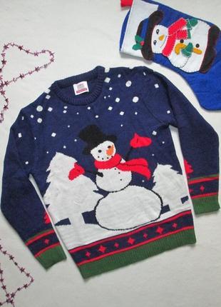 Крутой новогодний свитер со снеговиком нидерландского бренда nationale postcode loterij