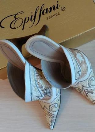 Красивые французские босоножки, туфли, мюлес, сабо