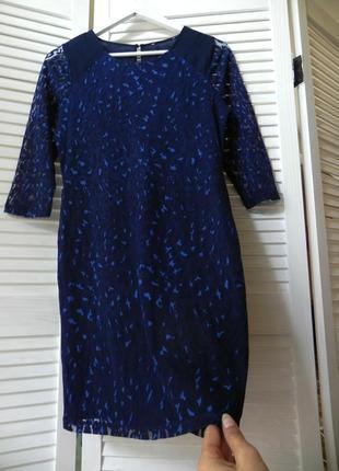 Комбинированное платье s/m (см.замеры) oasis