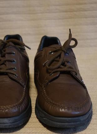 Отличные коричневые кожаные полуботинки hartjes австрия 7 1/2 р.( 26,5 см.)