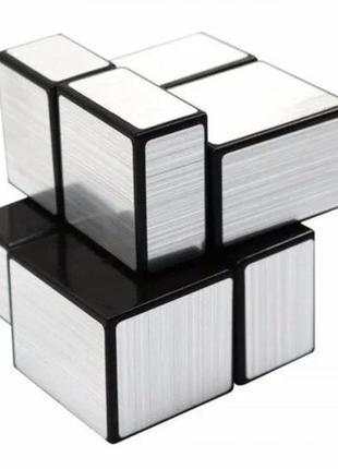Акция! кубик рубика 2х2х2 зеркальный серебряный+подарок