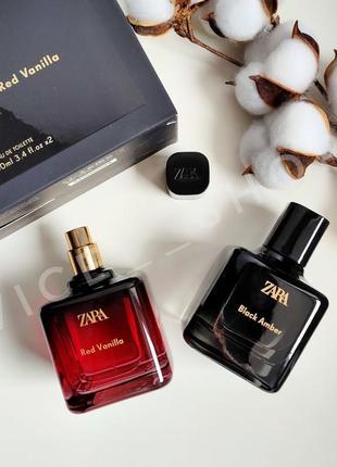 Zara red vanilla black amber духи парфюмерия туалетная вода набор оригинал испания