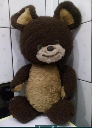 Мишка олимпийский ссср мягкий большой игрушка медведь