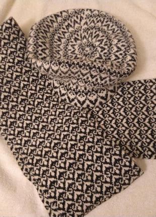 Женский  берет и шарф( шерсть)