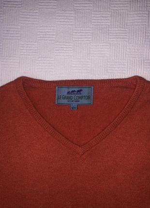 Оранжевый тёплый свитер