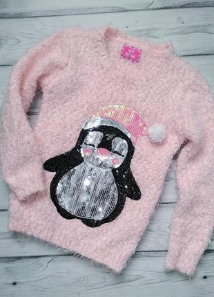 Теплый свитерок young dimension для девочки 7-8 лет
