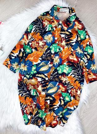 Блуза актуальный принт тропик barbara🌸