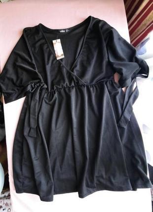 Шикарное новое платье на запах то boohoo plus size 20/22uk большой размер