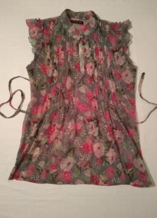 Блуза женская с поясом, летняя