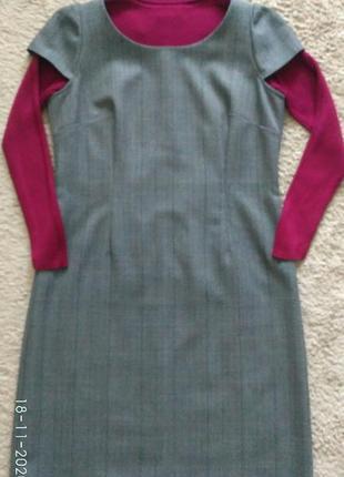 Платье сарафан hand made 100% шерсть р.40