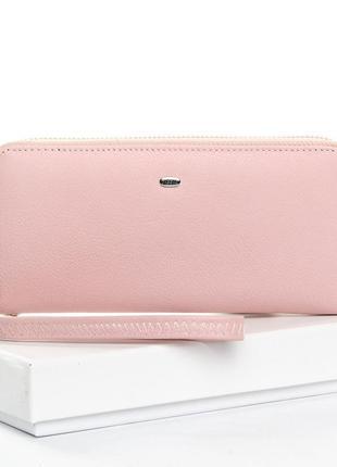 Стильный кожаный кошелек-сумочка