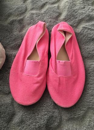 Розовые балетки)для танцев💕мягенькие балетки на резинках7 фото
