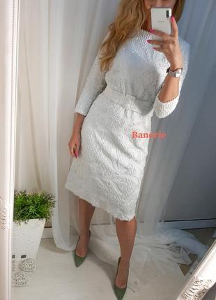 Платье  пайетки white angel