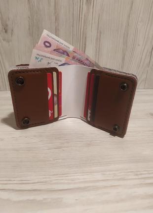 Женский кожаный кошелёк,ручная работа