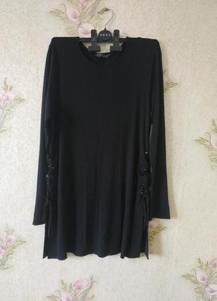 Чёрная женская кофта # на шнуровке # dorothy perkins