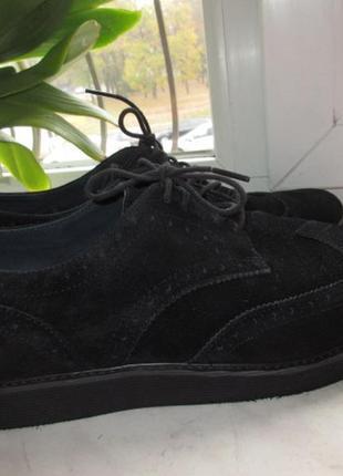 Замшевые туфли fred perry 45 р