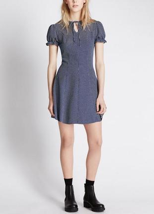 Мини платье в горошек m&s & alexa chung