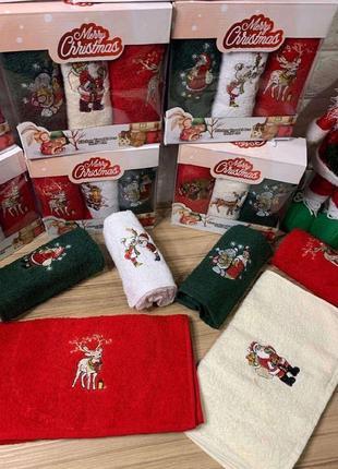 Рушники новорічні 🎄 махровые новогодние полотенца
