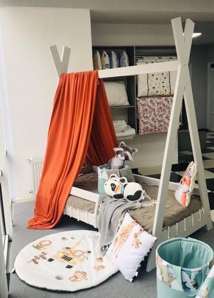 Шатёр балдахин на взрослую кроватку цвет кирпичный