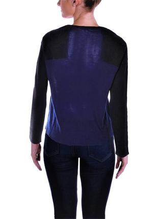 Черный пуловер свитер с синей спинкой  сша размер м