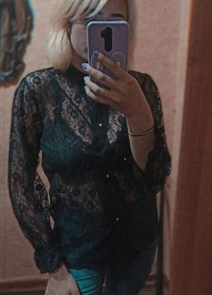 Обалденная кружевная блуза