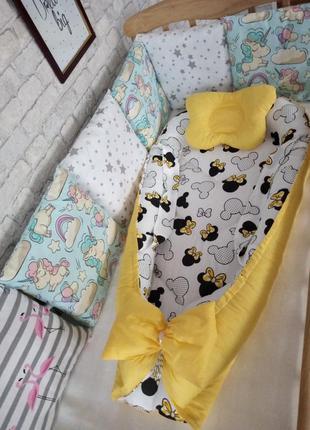 Акция! кокон гнёздышко + ортопедическая подушка