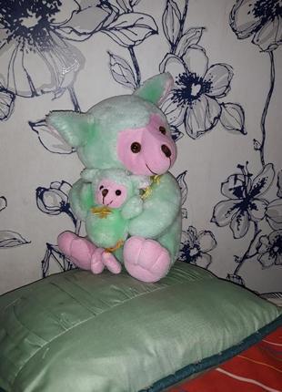 Мягкая коалла с малышом