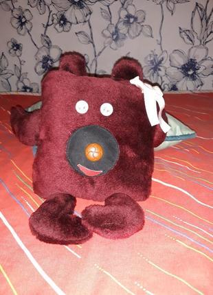 Мягкая игрушка-подушка мишка ручной работы