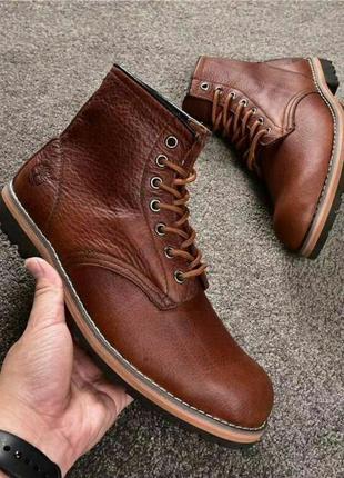 Ботинки timberland мужские кожаные демисезонные