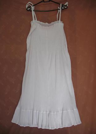 Летнее белое платье (разм.24!!!!)