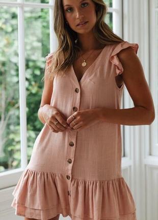 Платье с рюшами♥️