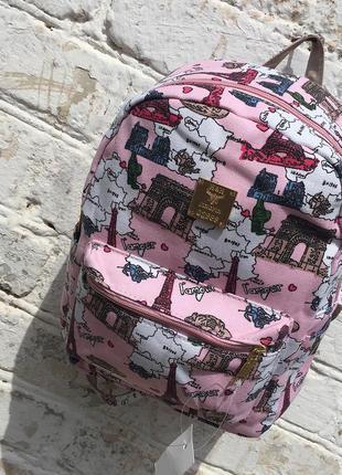 Рюкзак французские каникулы холст нежный красивый
