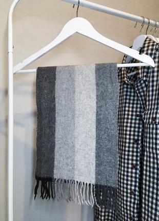 Шерстяной шарф брендовый kiltane