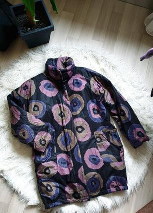 Сильная деми куртка пальто в яркий принт парка marimekko оригинал