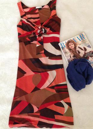 Платье с геометричным принтом - тренд этого лета! торг!