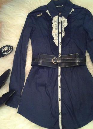 Фирменная красивая блузка рубашка туника нарядная