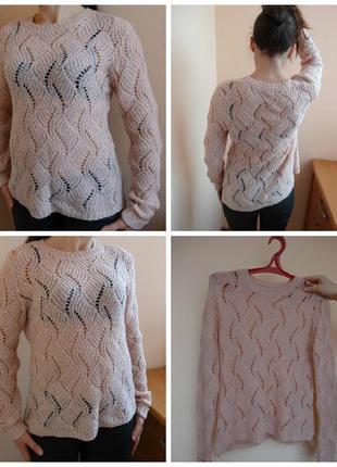 Нежный ажурный свитер atmosphere