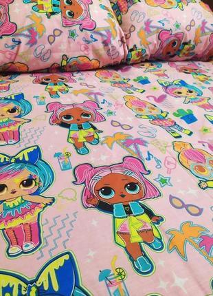 Детское постельное белье lol лол милый принт яркое шикарное качество