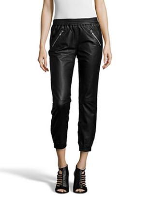 Новые кожаные джоггеры belair, france штаны из кожи чёрные крутейшие брюки 100% кожа