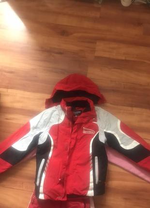 Зимняя лыжная термо куртка для девочки