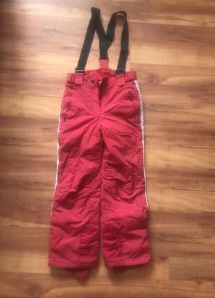 Полукомбинезон, штаны зимние лыжные