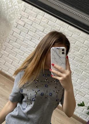 Крутая футболочка из плотного материала h&m