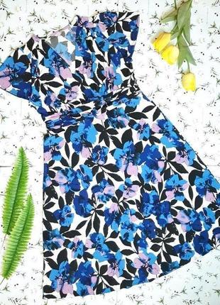 🎁1+1=3 шикарное нарядное длинное платье в цветах миди julipa, размер 50 - 52