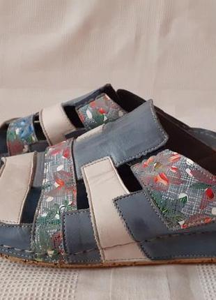 Gemini италия кожаные шлепанцы босоножки р. 41 ст. фото